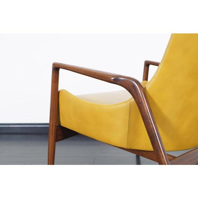 Danish Modern Danish Modern Leather Lounge Chairs by Ib Kofod Larsen For Sale - Image 3 of 13
