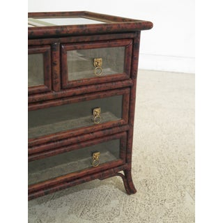 Traditional Maitland Smith Small Leather Wrapped Curio Display Chest Preview