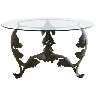 Neoclassical Iron Acanthus Leaf Dining Table