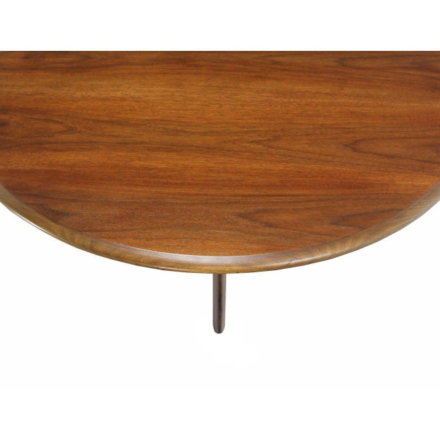 Adrian Pearsall Walnut X-Base Round Coffee Table For Sale - Image 4 of 6