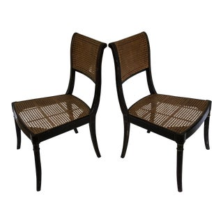 Caned Regency Side Chairs- a Pair