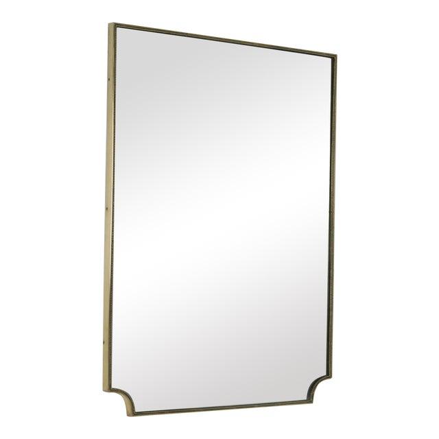 Italian 1950s Brass Framed Mirror For Sale