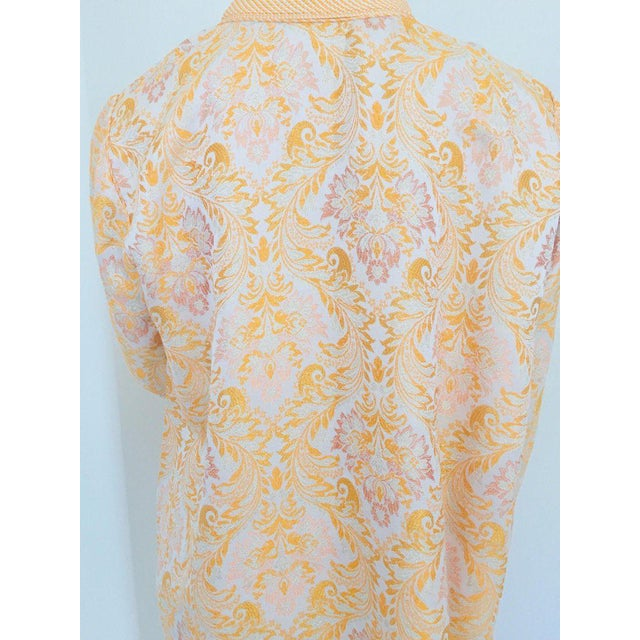 Moroccan Caftan in Gold Brocade For Sale - Image 9 of 13