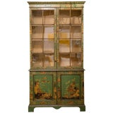 Image of George III Japanned Bookcase For Sale