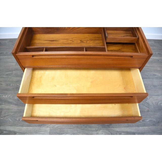 Nils Jonsson Teak Vanity Dresser For Sale - Image 9 of 11