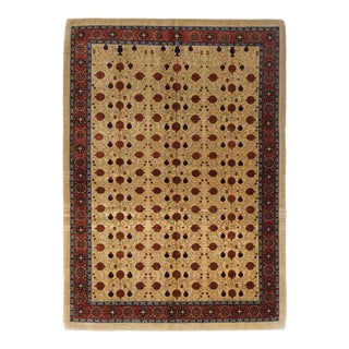 One-Of-A-Kind Persian Hand-Knotted Area Rug, Champagne, 5' 8 X 8' 1 For Sale