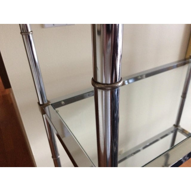 1960s Hollywood Regency Chrome Etagere For Sale - Image 12 of 13