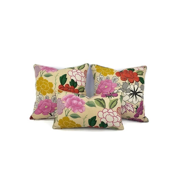 Not Yet Made - Made To Order Manuel Canovas Misia Linen Printed Self-Welt Pillow Cover For Sale - Image 5 of 8