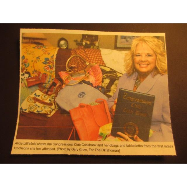1st Lady's Luncheon at White House Tablecloth, Free Congressional Club Cookbook For Sale - Image 9 of 9