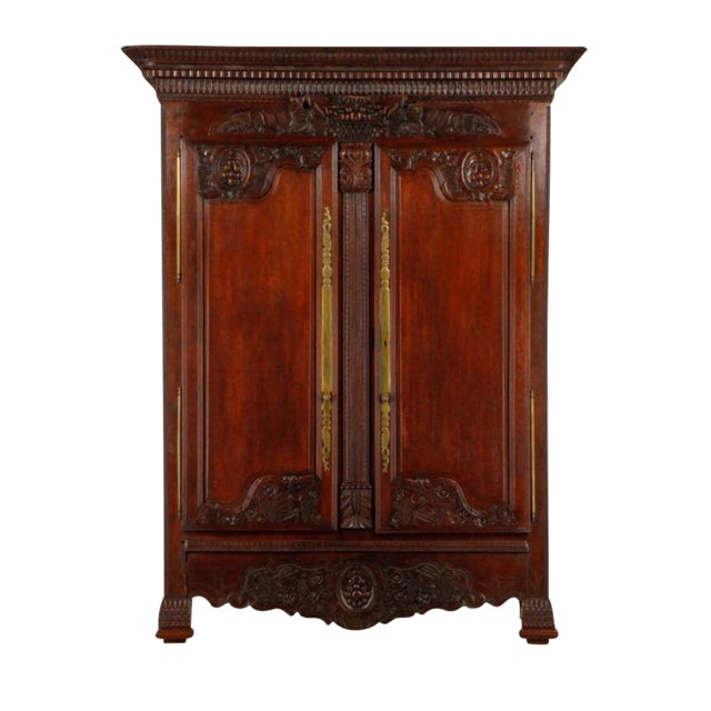 Carved Oak French Armoire - Image 1 of 6