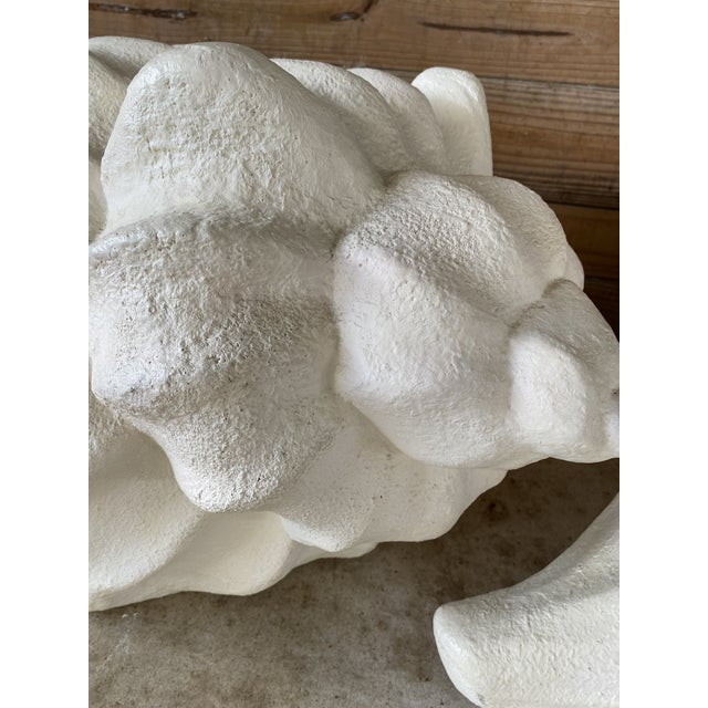 Gorgeous vintage large conch shell table based made out of plaster. These can be used as a coffee table or side tables as...