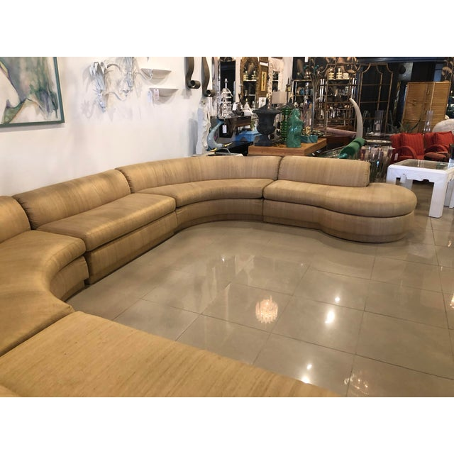 Vintage 1970's Mid Century Modern Curved Sectional Sofa - 5 Pieces For Sale In West Palm - Image 6 of 12