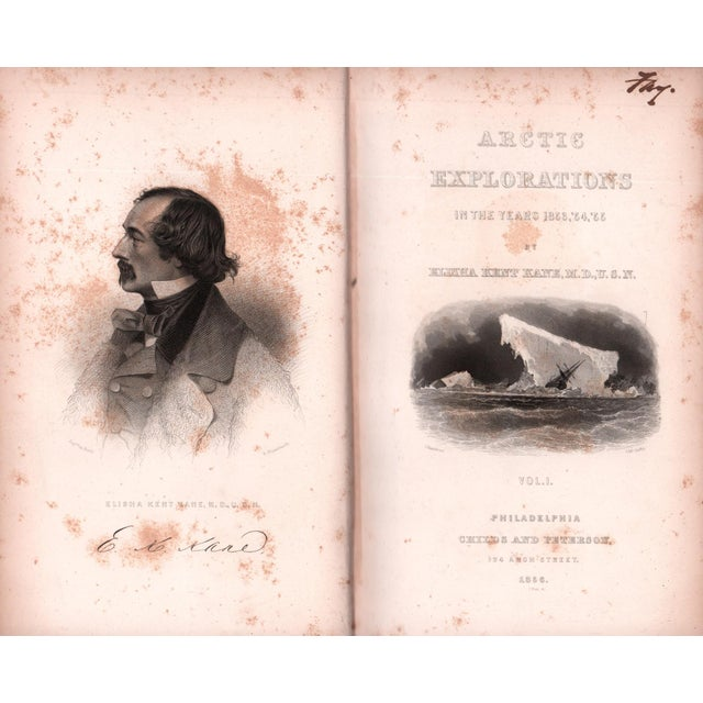 """Mid 19th Century 1856 """"Arctic Explorations Vol I."""" Collectible Book For Sale - Image 5 of 6"""