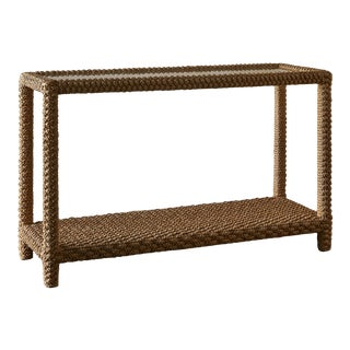 Braided Rope Console Table For Sale