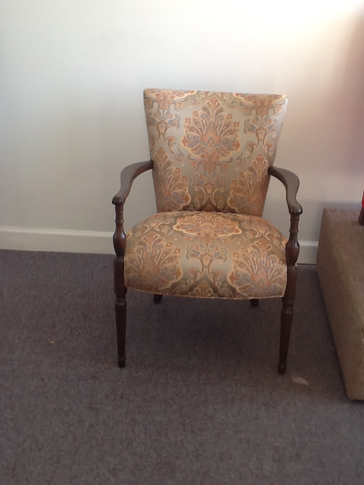 Paisley Print Wooden Corner Chair   Image 5 Of 5