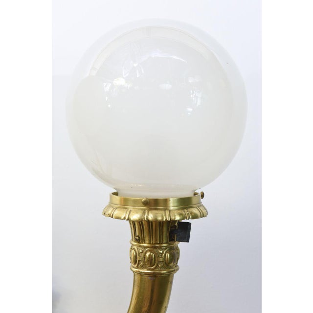 Cast Brass Early Electric Sconce For Sale - Image 4 of 11
