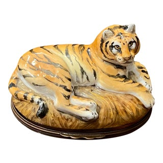 Halcyon Days William Blake Tiger, Initialed by the Artist For Sale