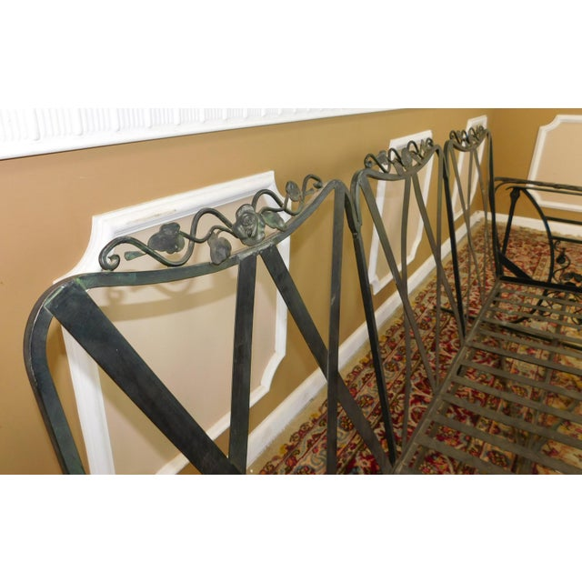 Vintage Lee Woodard & Sons Wrought Iron Glider Sofa For Sale - Image 5 of 11