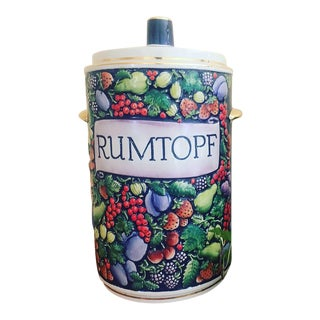 Vintage Mid-Century Marzi Remy Rumtopf Fruit Crock For Sale