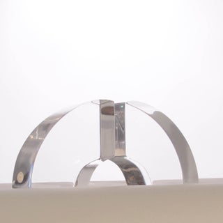 Vintage Modern Astrolite Products Lucite Arched Bookends Preview