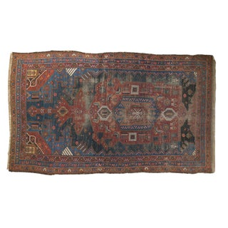 "Antique Hamadan Rug - 4'9"" X 7'11"""