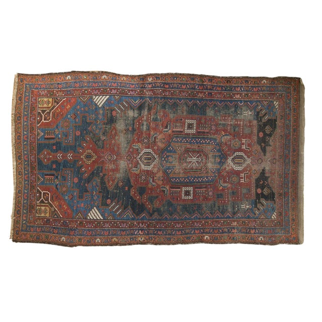 "Antique Hamadan Rug - 4'9"" X 7'11"" - Image 1 of 13"