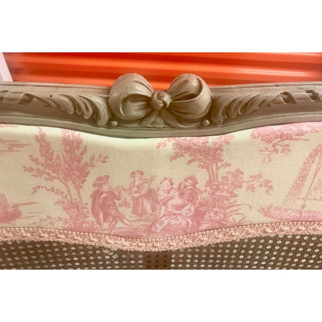 19th Century Louis XV French Caned Salon Collection - Set of 5 - Image 4 of 6