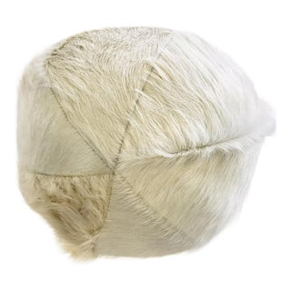 Forsyth Natural Ivory Cowhide Ball Pillow For Sale