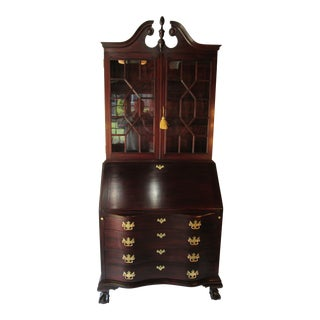 Mahogany 2 Piece Governor Winthrop Secretary by Charak For Sale