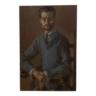 """20th Century Contemporary Original Framed Painting on Canvas, """"Distinguished"""" by Frederick McDuff"""