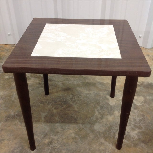 Mid-Century Modern Mid Century Side Tables With Formica Tops - 2 For Sale - Image 3 of 5