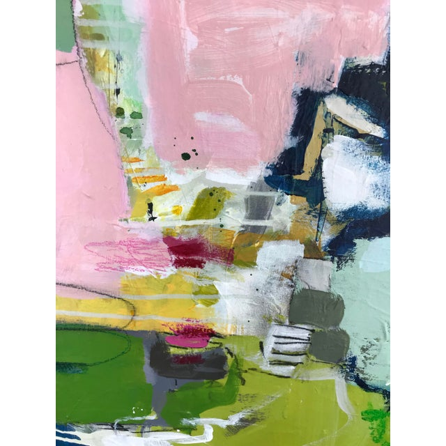 "Gina Cochran ""Let's Play Pretend"" Large Original Abstract Painting For Sale - Image 9 of 12"