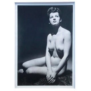 1940s Photo of a Seated Nude Woman