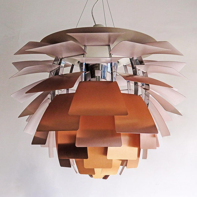 Mid-Century Modern 1950s Large Ph Artichoke Copper Lamp by Poul Henningsen For Sale - Image 3 of 11