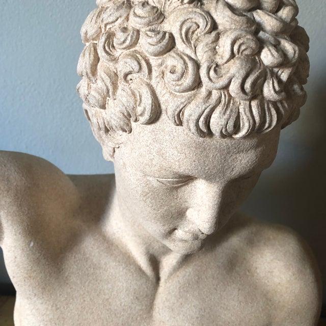 Vintage Male Bust Sculpture For Sale - Image 10 of 12
