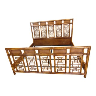 Bloomingdales Chinoiserie Bamboo King Size Bed For Sale