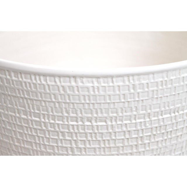 White Monumental Ceramic Vessel by David Cressey For Sale - Image 8 of 12