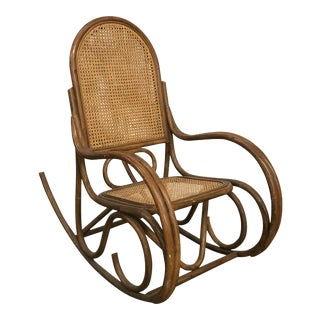 Thonet Style Bentwood and Caned Rocker