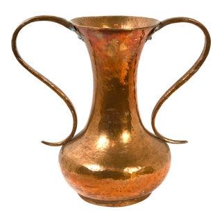 Hand Hammered Copper Vase For Sale