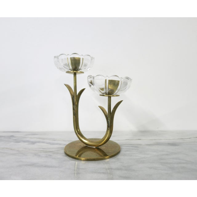 Ystad-Metall Mid 20th Century Ystad-Metall Candle Holder For Sale - Image 4 of 11