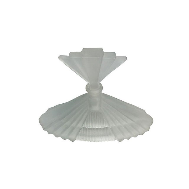 Art Deco Frosted Glass Perfume Bottle - Image 2 of 4