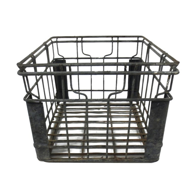 Industrial Square Metal Crate - Image 3 of 5