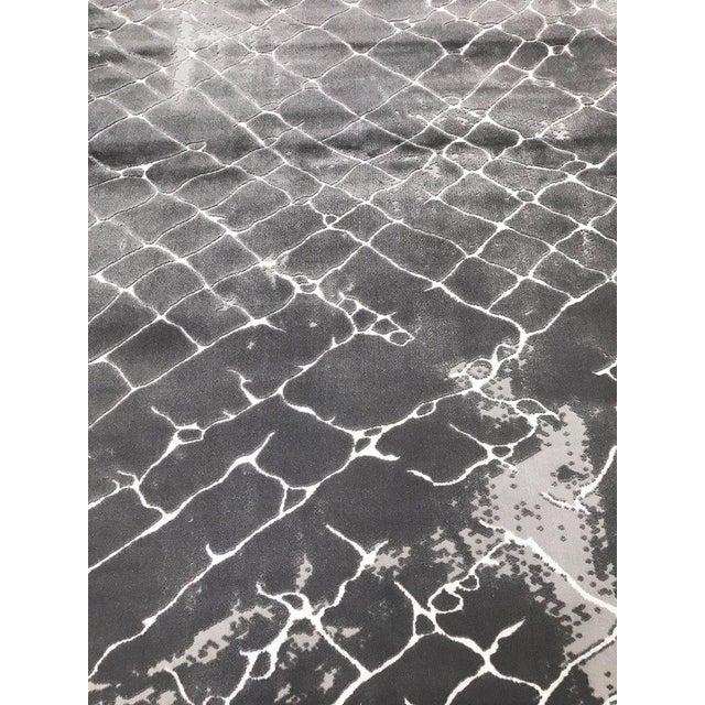 Faded Floor Design Gray Rug - 5'x8' - Image 4 of 6