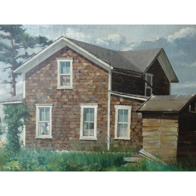 Vintage Landscpe Oil Painting by Russell - Image 4 of 10