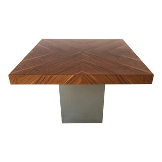 Milo Baughman Rosewood and Chrome Dining Table For Sale