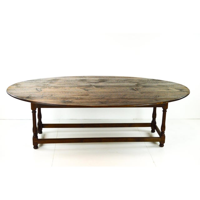 Antique Oval Drop Leaf Dining Table - Image 7 of 9