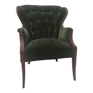 Vintage Tufted Wingback Armchair