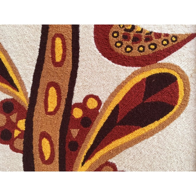 Faux Bamboo Luis Montiel Woven Rug Tapestry- 70s Botanical Textile Art For Sale - Image 7 of 9