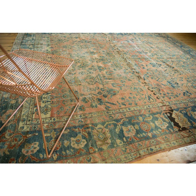 "Antique Distressed Lilihan Carpet - 9' x 11'1"" - Image 4 of 10"