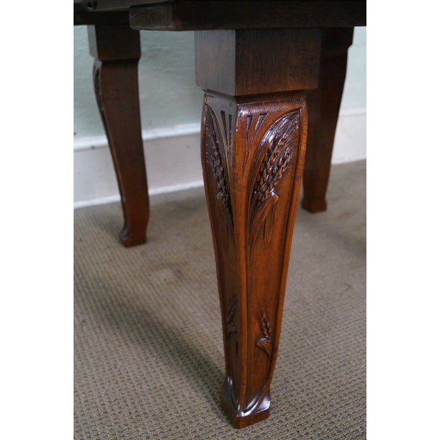Antique French Art Nouveau Walnut Dining Table For Sale - Image 9 of 10